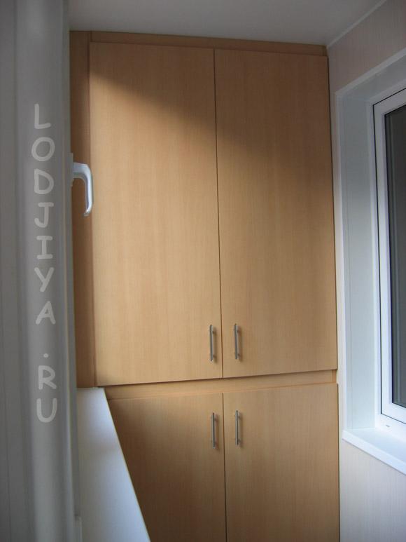 Шкаф на балконе типа сапожок. - лоджии - каталог статей - ба.