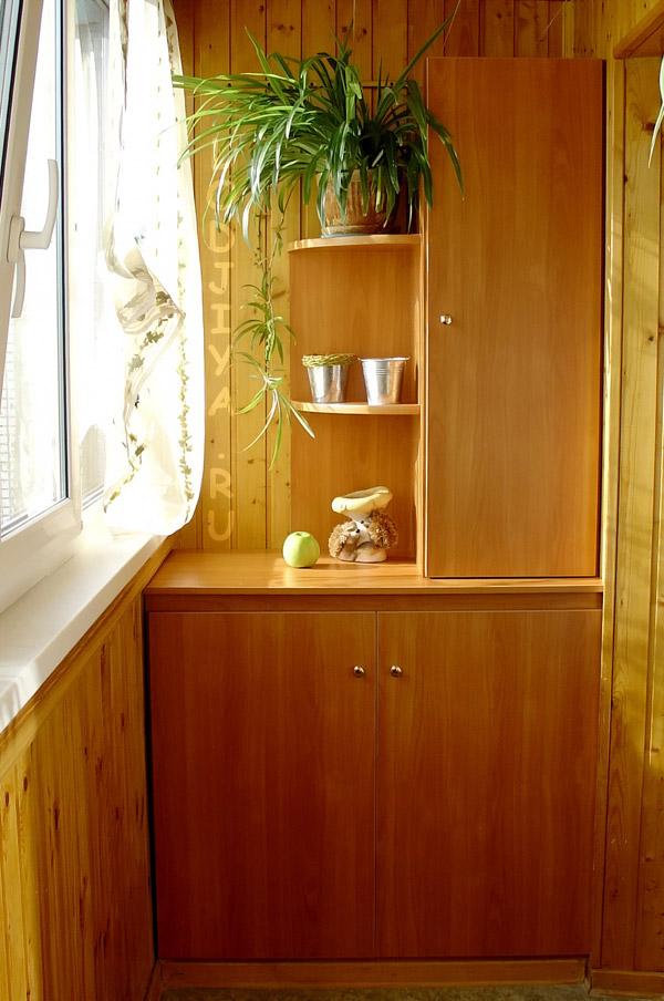 Обшивка балкона вагонкой со шкафом дизайнерские проекты..