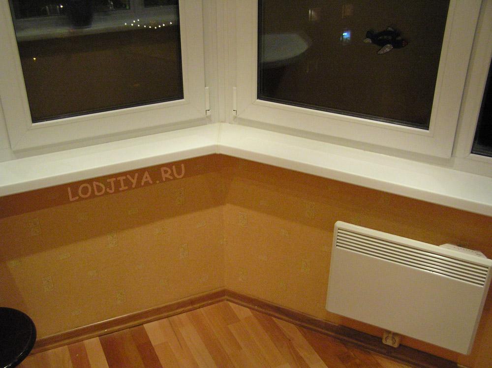 Варианты отопления балконов тип дома п 44т.