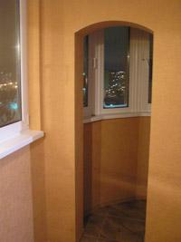 утепленный и отделанный балкон